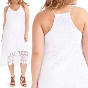 Crochet Lace Hi Lo Summer Sexy Slip Midi Dress Hot